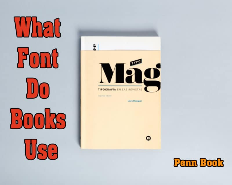 What Font Do Books Use