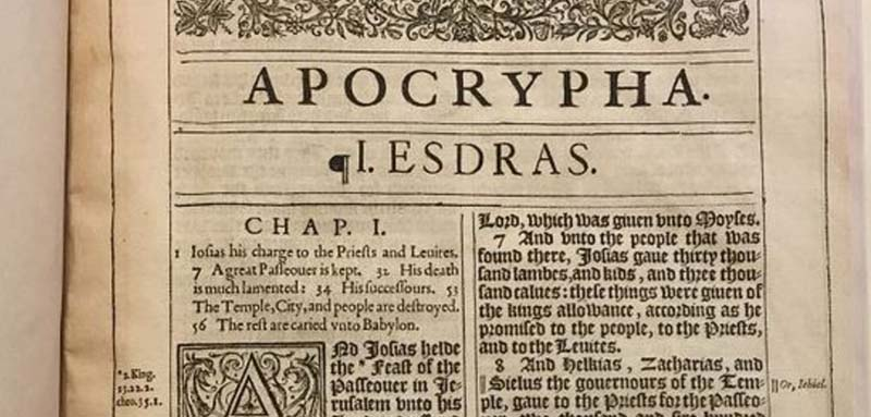 Why was the Apocrypha removed