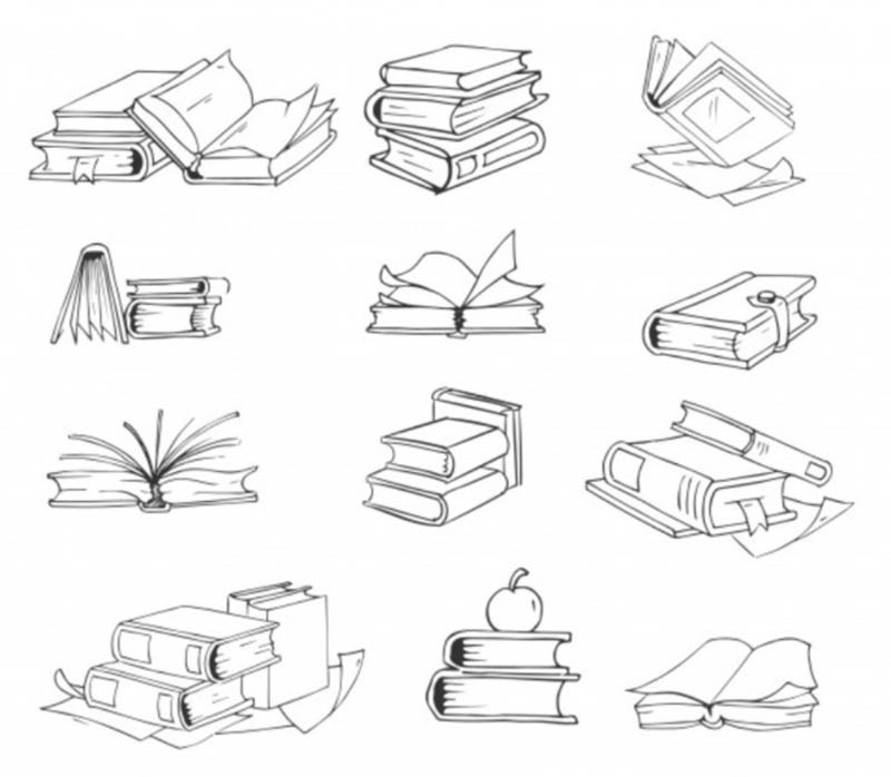 Draw a Stack of Books