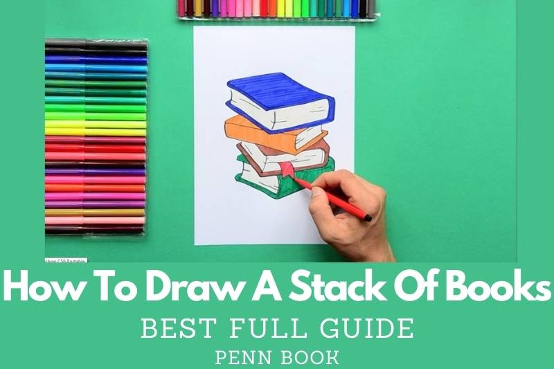 How To Draw A Stack Of Books