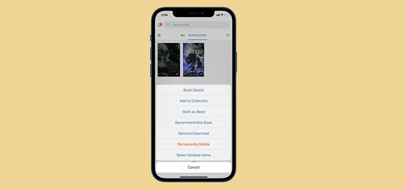 How to delete books from your Kindle using the mobile app
